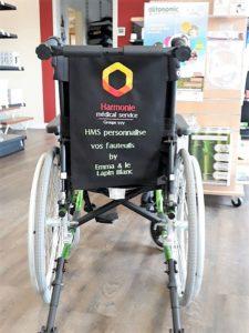 Housse de fauteuil brodée pour le salon autonomic grand ouest 2019
