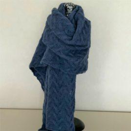 Etole alpaga bleu jean