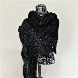 Châle Victoria noir et argent