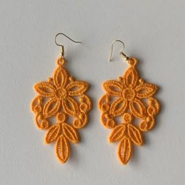 Boucles d'oreilles florales jaunes