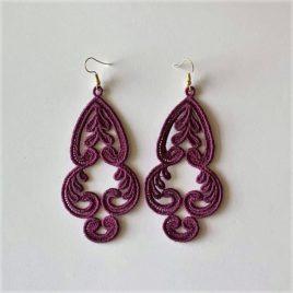 Boucles d'oreilles orientales violettes