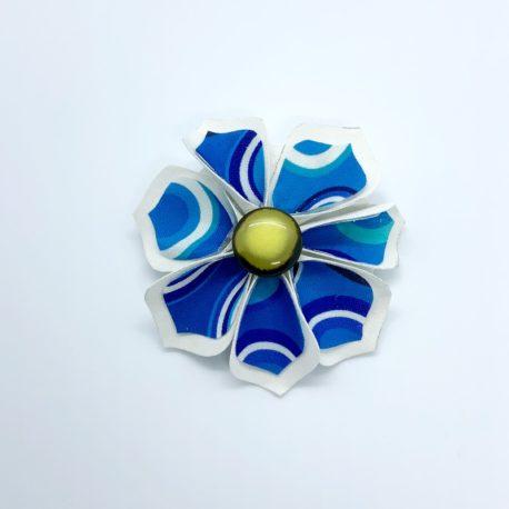 Barrette fleur cercle