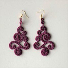 Boucles d'oreilles breizh violettes
