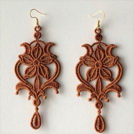Boucles d'oreilles lisy bronze