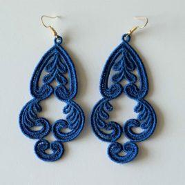 Boucles d'oreilles orientales bleues