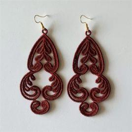 Boucles d'oreilles orientales bordeaux
