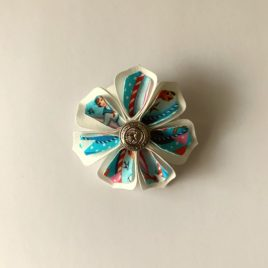Barrette fleur vintage