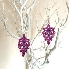 Boucles d'oreilles florales parmes
