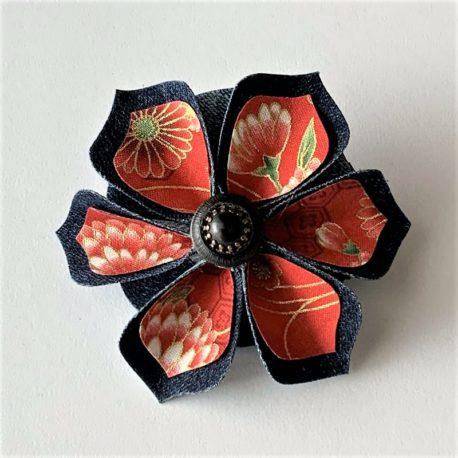 Barrette fleur japonaise