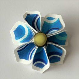 Barrette fleur cercles