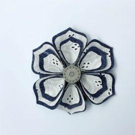 Barrette fleur dentelle