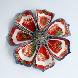 Barrette fleur japonaise 2