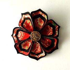 Barrette fleur japonaise 3