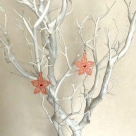 Boucles d'oreilles petite fleur rose